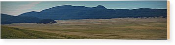 Redondo Peak Over The Caldera Panoramic Wood Print