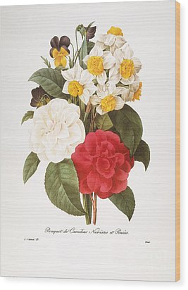 Redoute: Bouquet, 1833 Wood Print by Granger