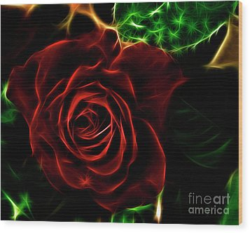 Red's Passion Wood Print