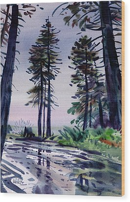 Redwood Reflections   Wood Print by Donald Maier