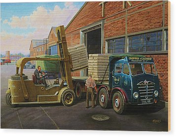 Reed Paper Foden Fg Wood Print by Mike  Jeffries
