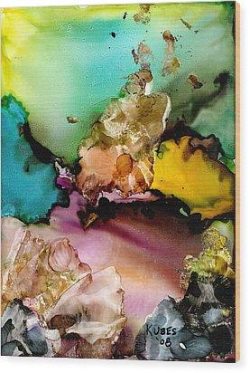 Reef 3 Wood Print by Susan Kubes