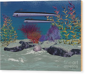 Reef Wood Print by Corey Ford