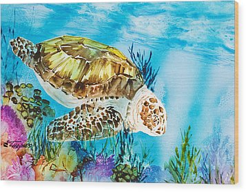 Reef Surfin Wood Print by Tanya L Haynes - Printscapes