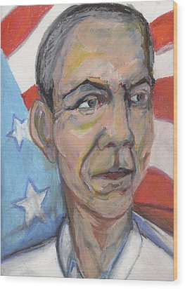Reelecting Obama In 2012 Wood Print by Derrick Hayes