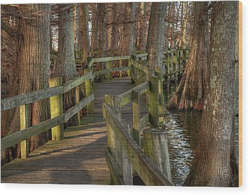 Wood Print featuring the photograph Reelfoot Lake 001 by Lance Vaughn