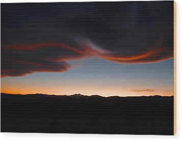 Refections On The Clouds Wood Print by James Steele