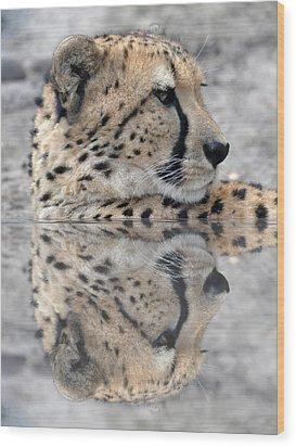 Reflected Cheetah Wood Print