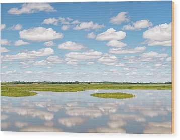 Reflected Clouds - 02 Wood Print