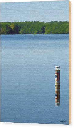 Reflected Warning Wood Print by Jeffrey Kolker