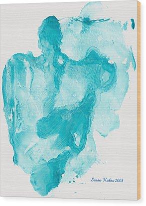 Reflectiing Angels Wood Print by Susan Kubes