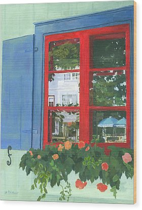 Reflecting Panes Wood Print by Lynne Reichhart