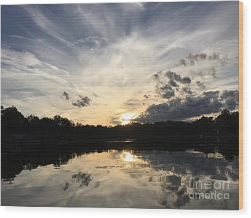 Reflecting Upon The Sky Wood Print by Jason Nicholas