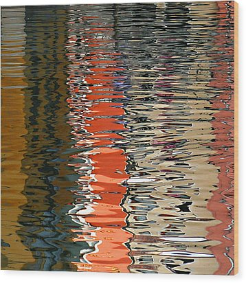 Reflection Abstract 1 Wood Print