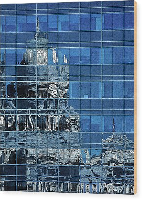 Reflection And Refraction Wood Print by Alex Galkin