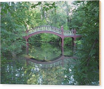 Reflection Bridge Wood Print by Rita Tortorelli