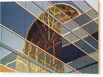 Wood Print featuring the photograph Reflection by John Schneider