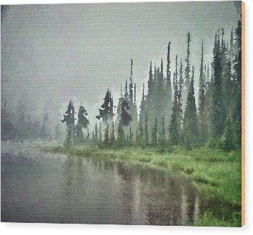 Reflection Lake, Mt Rainier Fine Art Print Wood Print by Greg Sigrist
