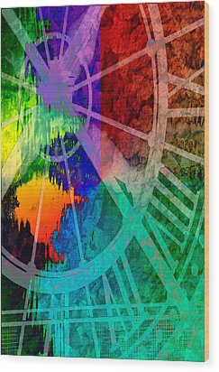Reflection Of Time Wood Print by Brian Roscorla