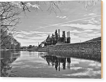 Reflection On The Lehigh Wood Print