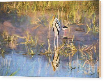 Reflection Wood Print by Pravine Chester