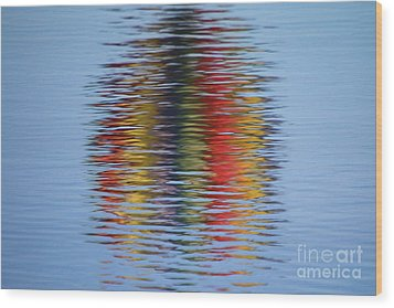 Reflection Wood Print by Steve Stuller