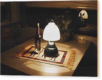 Reflection Time Wood Print