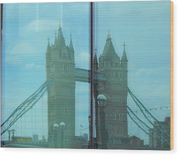 Reflection Tower Bridge Wood Print