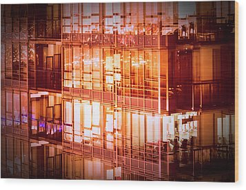 Reflectionary Phase Wood Print by Amyn Nasser