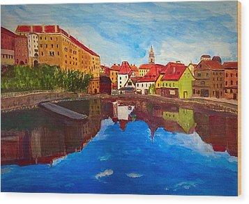 Czech Reflections Wood Print