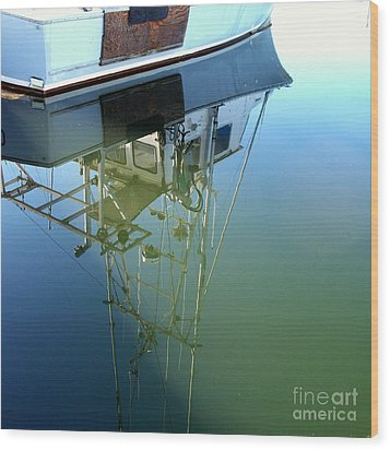 Wood Print featuring the photograph Reflections by Carol Grimes