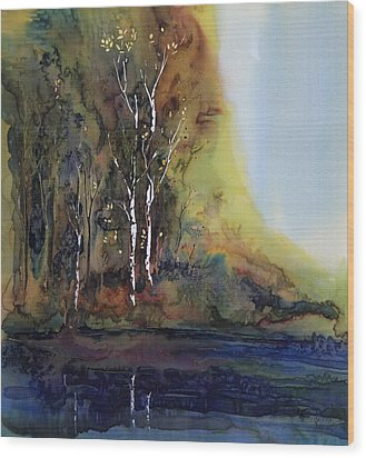 Reflections Wood Print by Carolyn Doe