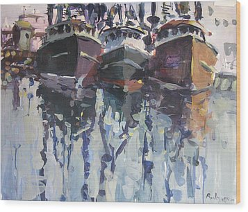 Wood Print featuring the painting Reflections II by Robert Joyner
