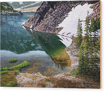 Reflections In Ellery Wood Print by Donald Neff