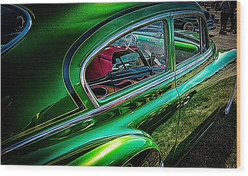 Reflections In Green Wood Print