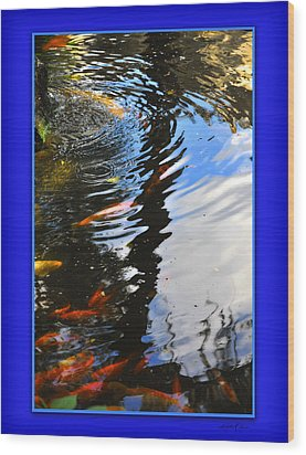 Wood Print featuring the photograph Reflections by Linda Olsen