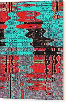Reflections Number 1 Wood Print by Teodoro De La Santa