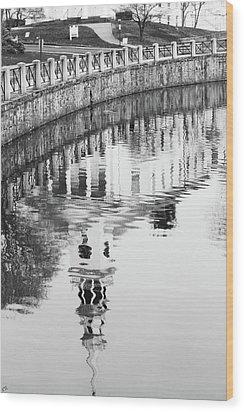 Reflections Of Church 2 Wood Print by Karol Livote