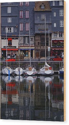 Reflections Of France Wood Print by Nancy Bradley