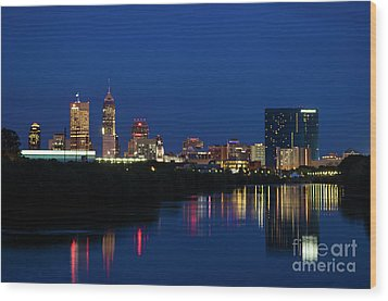 Wood Print featuring the photograph Reflections Of Indy - D009911 by Daniel Dempster