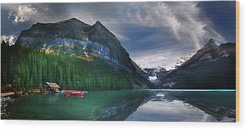 Reflections Of Wood Print by John Poon