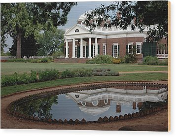 Reflections Of Monticello Wood Print