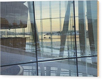 Wood Print featuring the photograph Reflections Of Oslo by David Chandler
