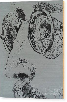 Reflections Of Peace John Lennon Wood Print by Carla Carson