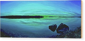 Reflections Of Serenity Wood Print by ABeautifulSky Photography