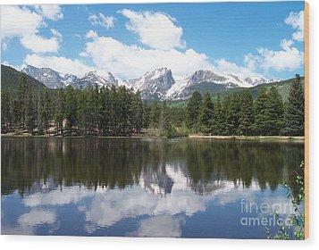 Reflections Of Sprague Lake Wood Print