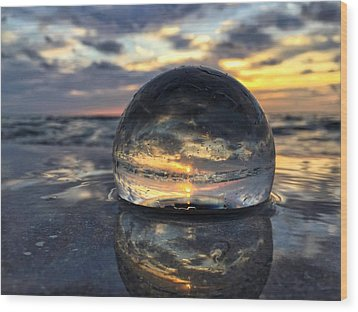 Reflections Of The Crystal Ball Wood Print