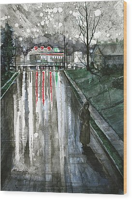 Reflections On Alone Wood Print by Patricia Allingham Carlson