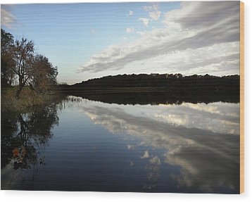 Wood Print featuring the photograph Reflections On The Lake by Chris Berry
