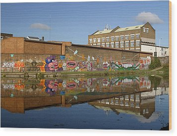 Reflective Canal 4 Wood Print by Jez C Self